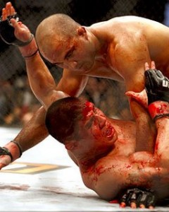 The horiffic experience of fighting BJ Penn at lightweight.